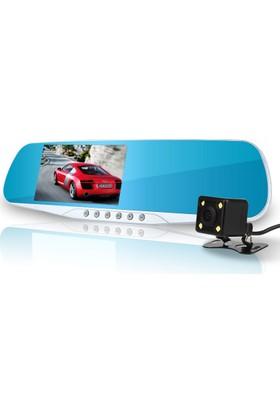 Allwinner 4.3 inç IPS AW54HD+32GB 5 LED Dikiz Ayna Full HD Araç Kamera
