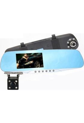 Allwinner 4.3 inç IPS AW54HD+16GB 5 LED Dikiz Ayna Full HD Araç Kamera