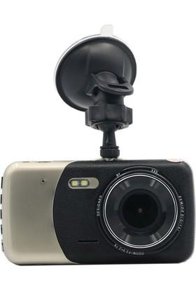 Novatek 4 inç Dokunmatik Ekran T90 +32GB Çift Yön Türkçe Araç Kamerası