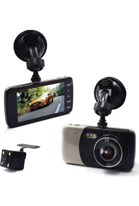 Novatek 4 inç Dokunmatik T90 Türkçe Full HD Gece Görüşlü Araç Kamerası