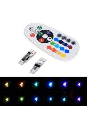 ModaCar RGB MultiColor Flaş Işık Ayarlı T10 Model Beyaz Ledli Park Ampülü 106339