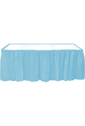 Roll-UpAçık Mavi Plastik Masa Eteği