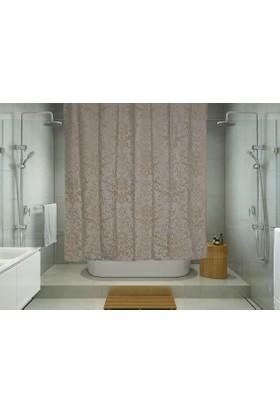 Melodie Banyo Duş Perdesi Açık Kahve 180X180