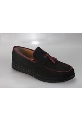 Suat Baysal Salur 4056-1 Erkek Nubuk Deri Zımbalı Günlük Ayakkabı