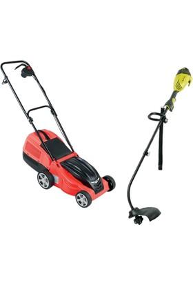 Ital 1000W Elektrikli Tırpan ve Ital Fm3310 Elektrikli Çim Biçme Makinası 1000W