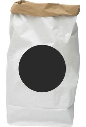 Bugy Bagy Paper Bag Dekoratif Çamaşır ve Oyuncak Sepeti Saklama Kutusu Oda Aksesuarı Nokta Orta Boy