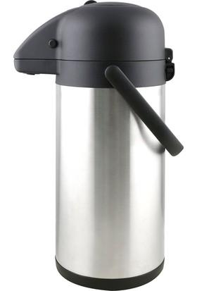 Hiper Pompalı Çelik Termos - 3 lt