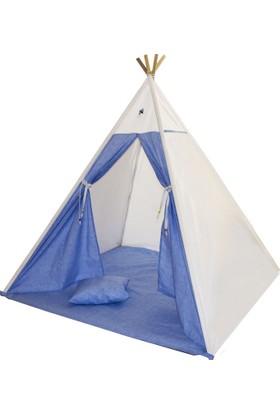Bebekister Ahşap Kızıldereli Oyun Alanı Ve Uyku Çadırı