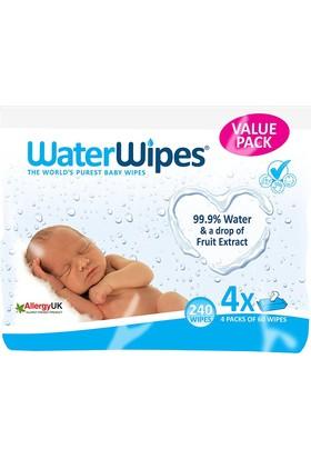 Waterwipes Doğal Islak Mendil 4'lü Paket