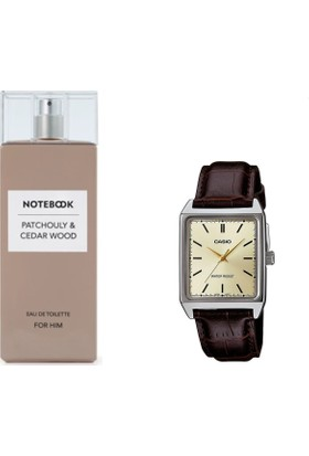 Notebook Patchouly & Cedar Wood Edt 100 Ml Erkek Parfüm + Casio Mtp V007l 9eudf Kol Saati