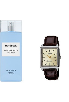 Notebook White Wood & Vetiver For Him Edt 100 Ml + Casio Mtp V001gl 9budf Kol Saati