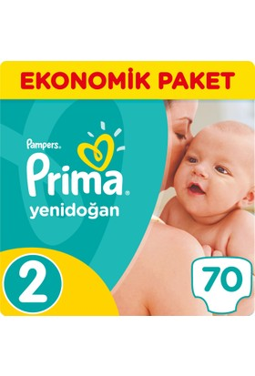 Prima Bebek Bezi Yeni Bebek 2 Beden Mini Ekonomik Paket 70 Adet