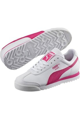 Puma 35425922 Orjinal Roma Basic Jr Kadın Spor Ayakkabı Beyaz - Pembe