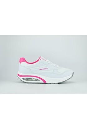 Dunlop 812829 Zenne Anorak Air Poli Bağcıklı Kadın Spor Ayakkabı Beyaz