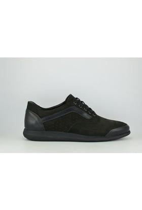 Voyager 3665 Merdane Eva Bağcıklı Erkek Spor Ayakkabı Siyah