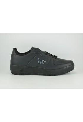 Wickers 1787 Merdane Anorak Poliüretan Bağcıklı Erkek Spor Ayakkabı Siyah