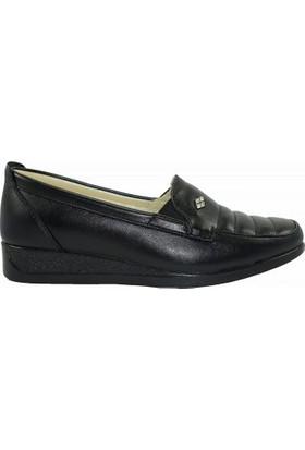 Merry Pace 0493192Z İçi Deri Anne Ayakkabı Siyah