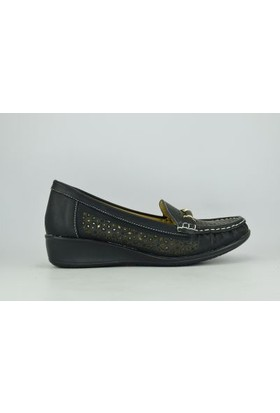 Osaka 3985 Zenne Emitasyon Cilt Termo Tokalı Kız Rok Comfort Ayakkabı Siyah