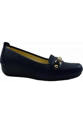 Merry Pace 444Ft410 Düz Kadın Ayakkabı Lacivert