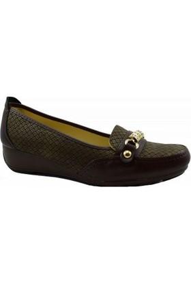 Merry Pace 444Ft410 Düz Kadın Ayakkabı Kahverengi