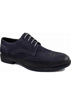 Dropland 3465 Deri Bağcıklı Erkek Ayakkabı Lacivert