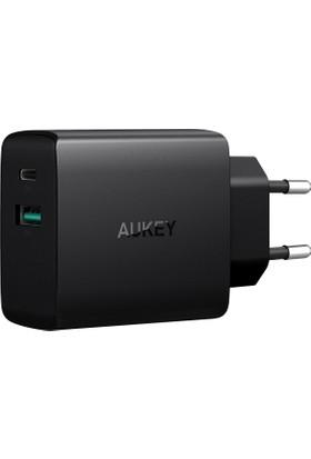 Aukey PA-Y9 25.5W USB-C Duvar Şarjı