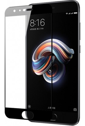 Case 4u Xiaomi Mi Note 3 Tam Kaplayan Ekran Koruyucu - Nano Fiber - Siyah