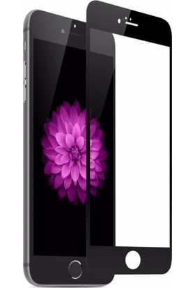 Case 4U Apple iPhone 7 Plus / 8 Plus Tam Kaplayan Ekran Koruyucu - Nano Fiber - Siyah