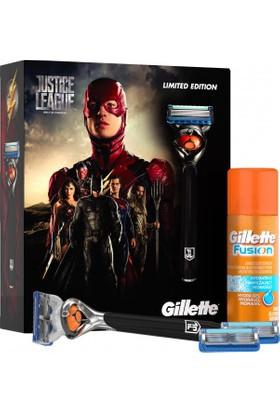 Gillette Fusion ProGlide Flexball Justice League Özel Paketi Tıraş Makinesi + 3'lü Tıraş Bıçağı + 75 ml Tıraş Jeli