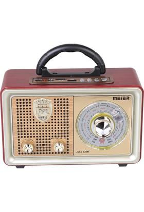 Meirer M 110Bt Bluetoothlu Usb Sd Dvs Nostaljik Radyo Fm Am Sw