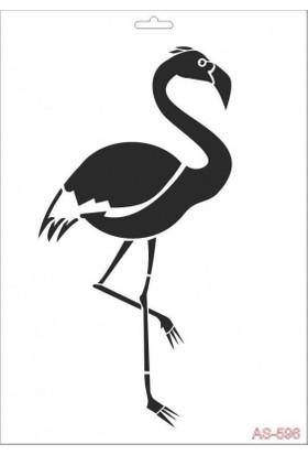 Cadence AS596 Stencil Şablon 21x29 cm - Flamingo