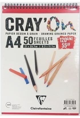 Clairefontaine Cray'On Çizim Blok A4 120gr 50 Yaprak