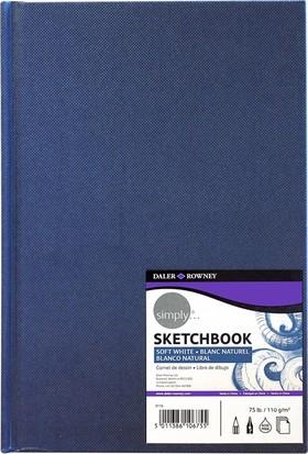 Daler Rowney Simply Sketchbook Eskiz Defteri Lacivert A4 - 110gr.