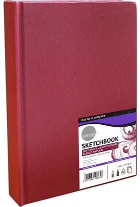 Daler Rowney Simply Sketbook Eskiz Defteri Bordo A5 - 110gr.