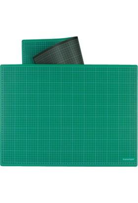 Transotype Kesme Matı Yeşil/Siyah 100x150cm