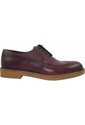 Geçer 1101 Deri Bağcıklı Erkek Ayakkabı Bordo
