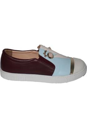 Efem 874-02 Deri Kadın Ayakkabı