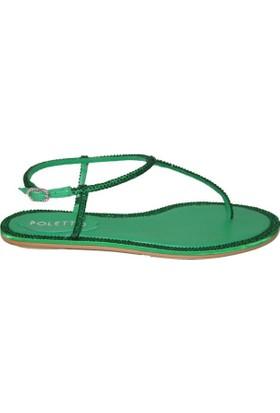 Efem 0197-29 Deri Swarovski Kadın Sandalet