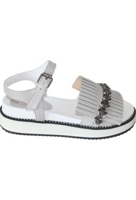 Efem 065-1640 Deri Kadın Sandalet