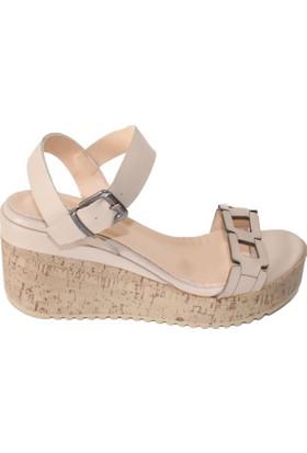 Efem 6148-02 Deri Kadın Sandalet