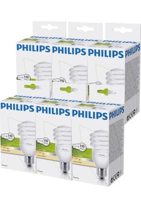 Philips EconomyTwister 23W E27 Normal Duy Sarı Işık 6'lı Ekopaket