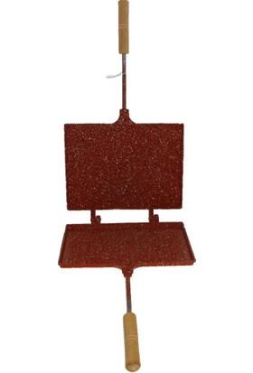 Taşhan İç Dış Granit Ocak Üstü Tost Makinesi Kırmızı Renk