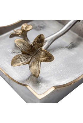 Vitale Mahin Çiçekli Metal Peçetelik