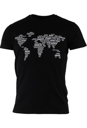 Tryon World Bisiklet Yaka T-Shirt Siyah