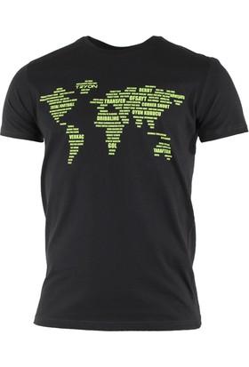 Tryon World Bisiklet Yaka T-Shirt Antrasit