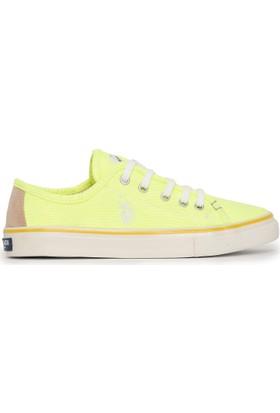 U.S. Polo Assn. Kadın Kaley-Int Sneaker Ayakkabı Sarı