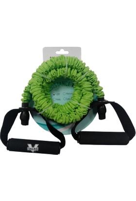 Valeo Light Yeşil Pilates Direnç Lastiği Ve Egzersiz Tübülü