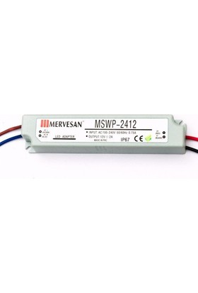 Mervesan Led Trafosu 12VDC 2A IP67 - MSWP-2412