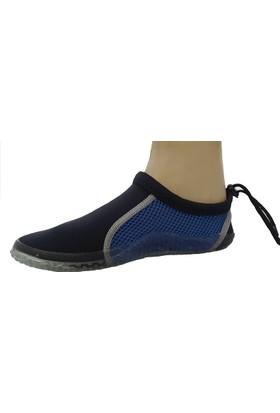 Hobi Store Siyah - Lacivert Fileli Deniz Ayakkabısı