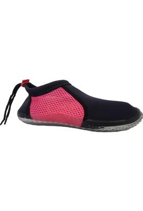 Hobi Store Siyah - Fuşya Fileli Deniz Ayakkabısı